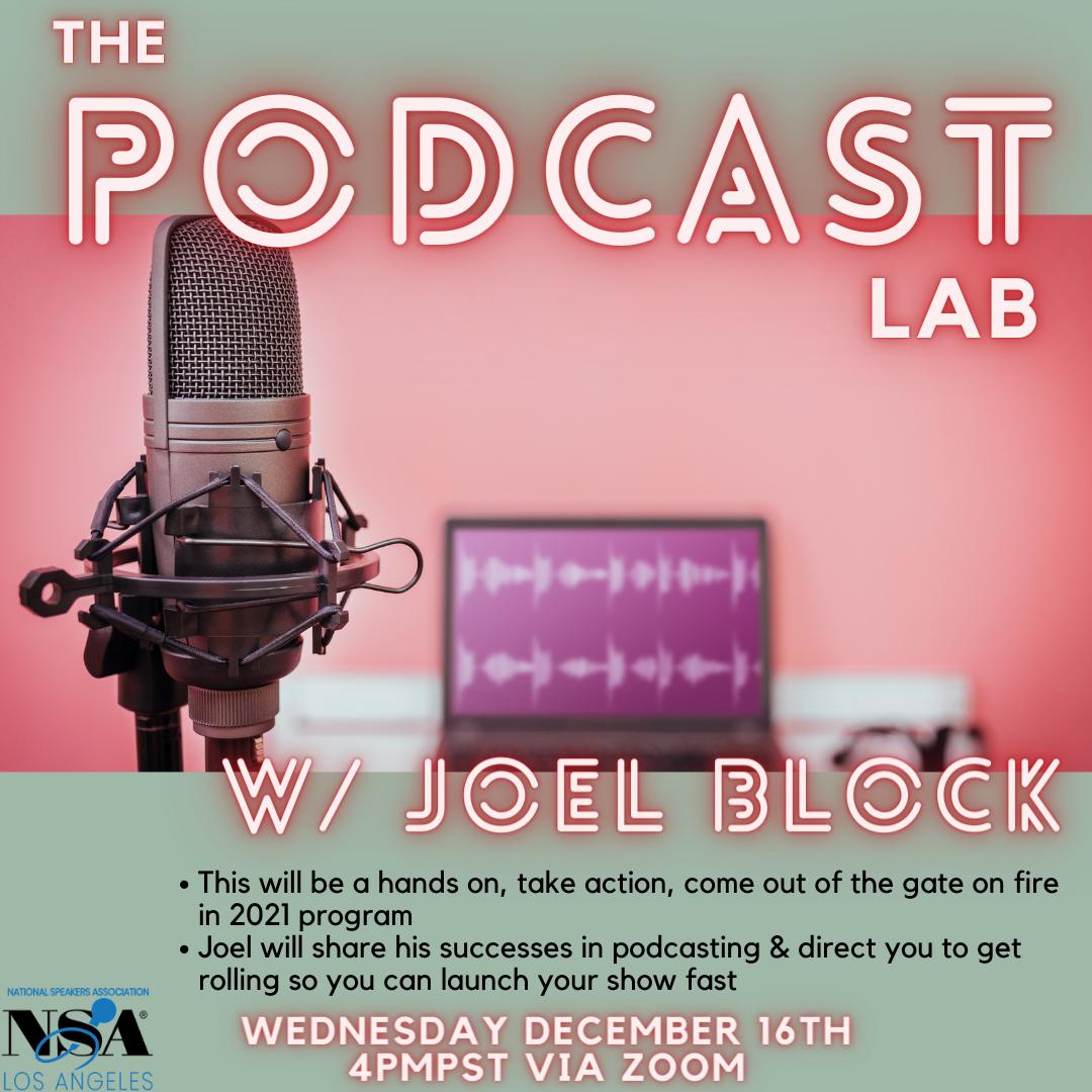 2020 Dec 16 Joel Block Podcast Lab Brain Collective Event Video